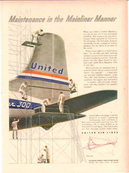United Air Lines – DC-6 Mailiner 300s (1951)