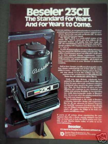 Beseler 23cii Photo Enlarger Photography (1978)