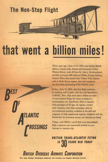 British Overseas Airways Corporation – The Non-Stop Flight that went a billion miles (1949)
