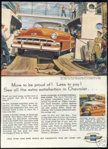 Chevrolet Bel Air Sport Coupe Ship Theme Car (1954)