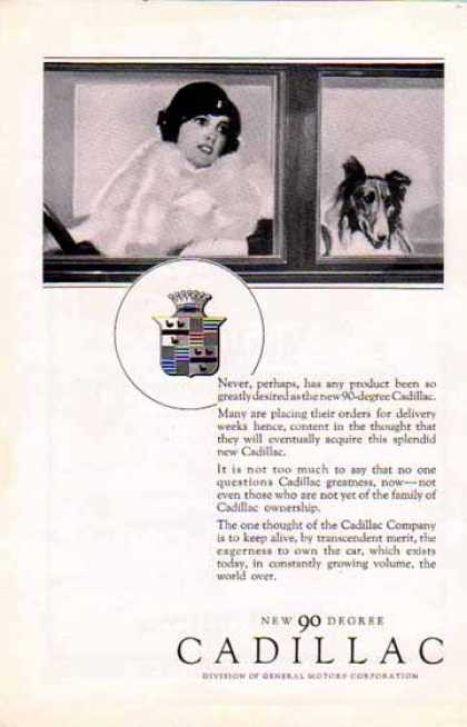 Cadillac 90-Degree Car – Lady and Collie (1925)