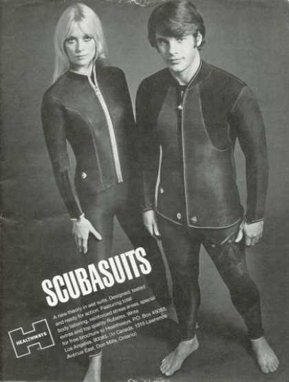 Healthways Scuba Suits Woman Diver Diving (1972)