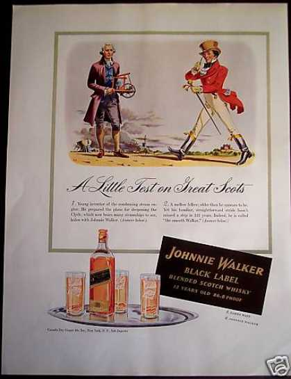 Johnnie Walker Whisky James Watt (1941)
