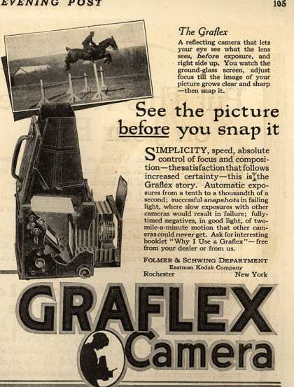 Kodak's Graflex cameras – See the picture before you snap it (1918)