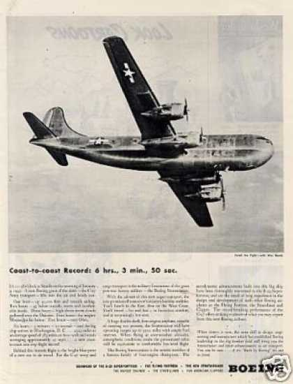 Boeing Aircraft Ad C-97 Army Transport (1945)