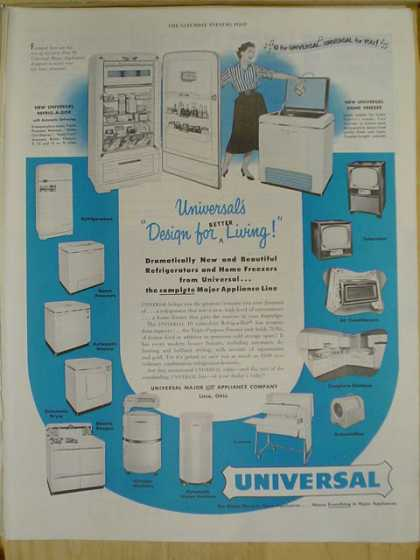 Universal Kitchen appliances. Design for better living (1952)