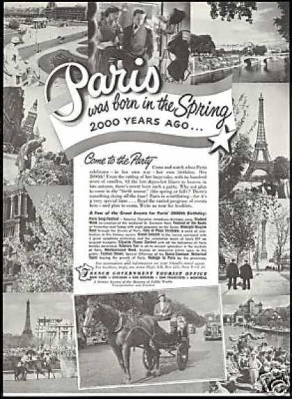 Paris France 2000th Birthday Vintage Travel (1951)