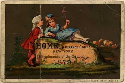 Home Insurance Co. – Home Insurance Company, Compliments of the Season (1879)