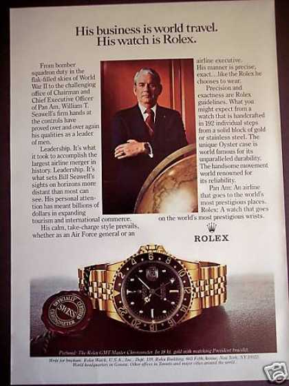 Pan Am Ceo William Seawell Rolex Watch Photo (1980)