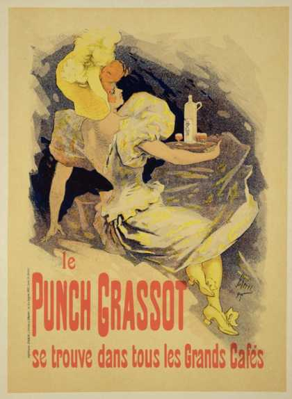 "Reproduction of a Poster Advertising ""Punch Grassot,"" (1895)"
