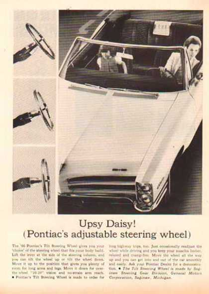 Pontiac Car – Tilt Steering Feature – General Motors (1966)