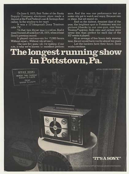 Sony Trinitron Color TV Long Run Pottstown PA (1975)