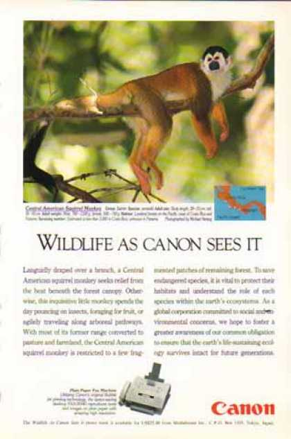 Canon FAX-B340 Fax Machine – Squirrel Monkey (1994)