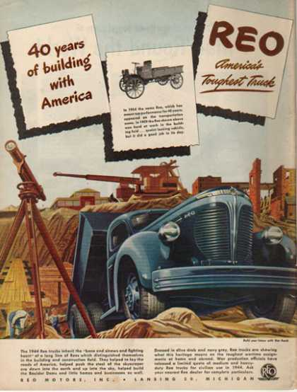 REO Trucks – Limited release war production trucks – Sold (1944)