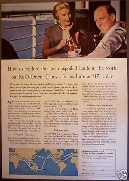 P&o Orient Lines Sea Voyages Cruises Travel (1962)