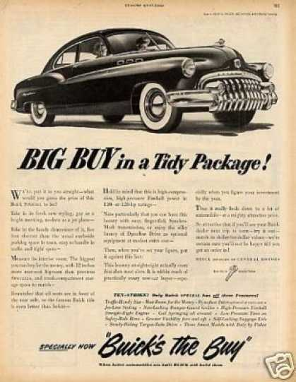 "Buick Eight Car Ad ""Big Buy In a Tidy... (1949)"