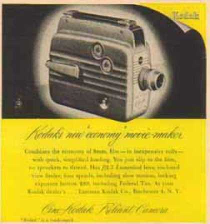 Kodak Camera – Cine-Kodak Reliant Camera (1949)