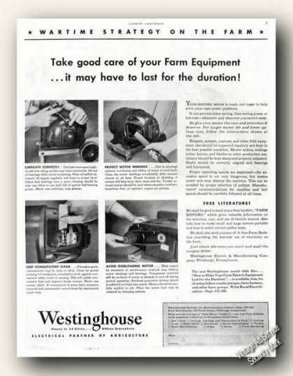 Farm Wartime Strategy Wwii Westinghouse (1943)