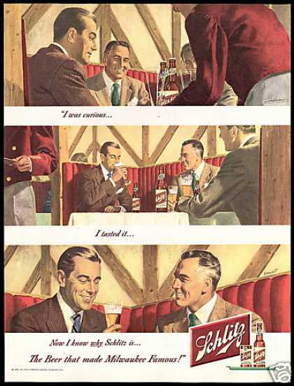 Schlitz Beer I Tasted It Dormont Art (1948)
