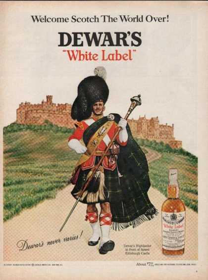 Dewars White Label Scotch Whisky (1969)