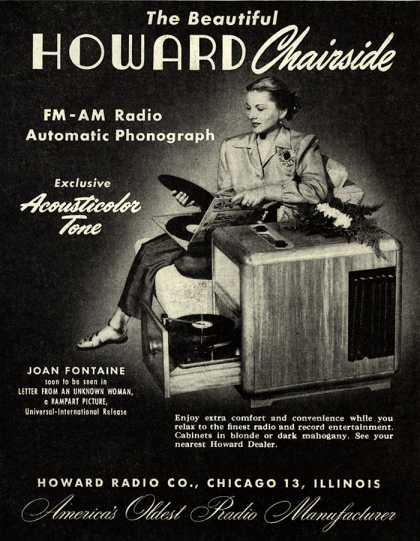 Howard Radio Company's Howard Chairside – The Beautiful Howard Chairside (1947)