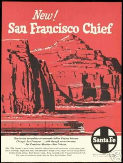 Santa Fe San Francisco Chief Train Railroad (1954)