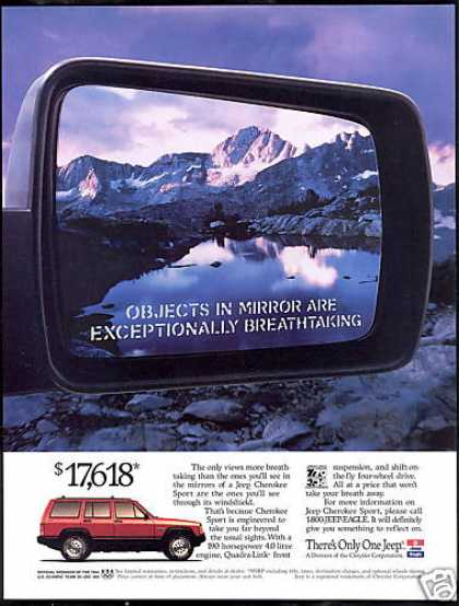 Jeep Cherokee Sport Objects In Mirror (1994)