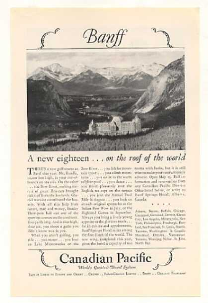 Canadian Pacific Banff Springs Hotel New Golf (1928)