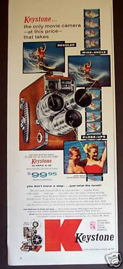 Keystone Olympic K-35 8mm Movie Camera (1955)