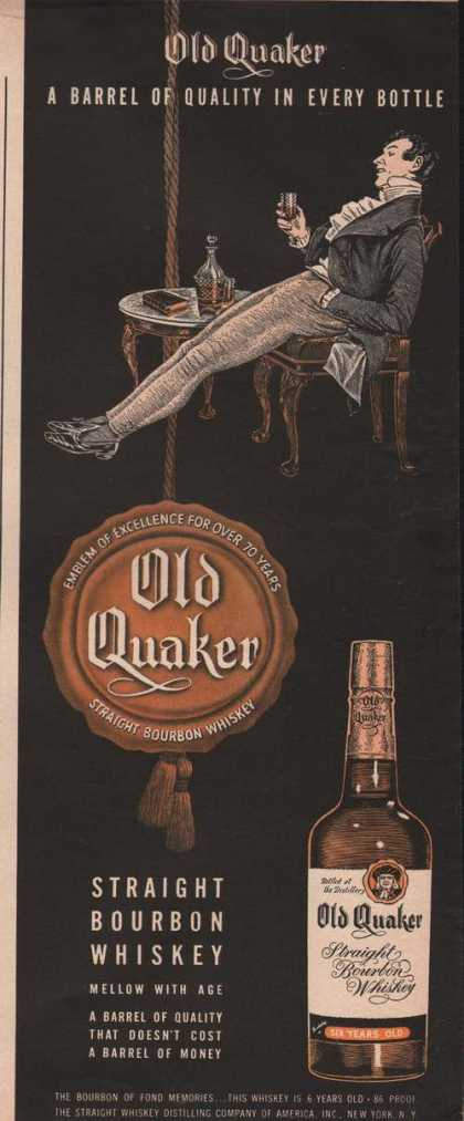 Old Quaker Bourbon Whiskey (1949)