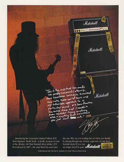 Marshall JCM Slash Signature Model Stack Amp (1996)