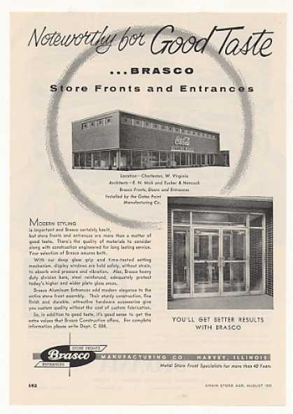 Coca-Cola Bottling Works Charleston WV Brasco (1955)
