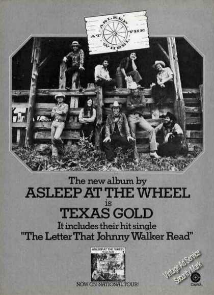 "Asleep at the Wheel Group Photo ""Texas Gold"" (1975)"