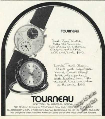 Tourneau Watches Rare Advertising (1978)