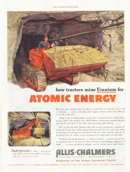 Allis Chalmers Tractor Hd-5g Mine Uranium (1952)