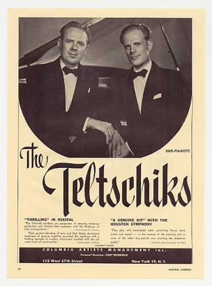 Pianists The Teltschiks Photo Booking Promo (1953)
