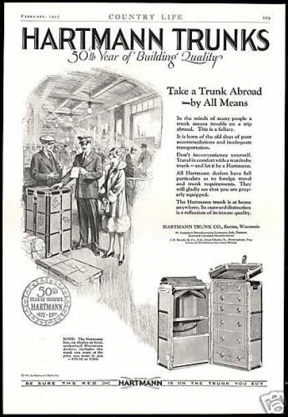 Hartmann Trunk Luggage Co 50th Anniversary (1927)