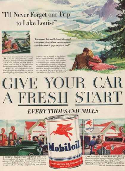 Car a Fresh Start Mobiloil (1941)