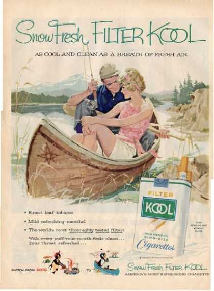 Kool Cigarette Fly Fishing Reel Ad T (1959)
