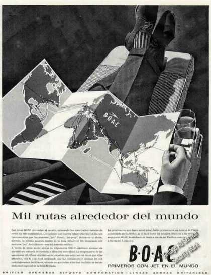 Boac British Overseas Airways Spanish Language (1960)