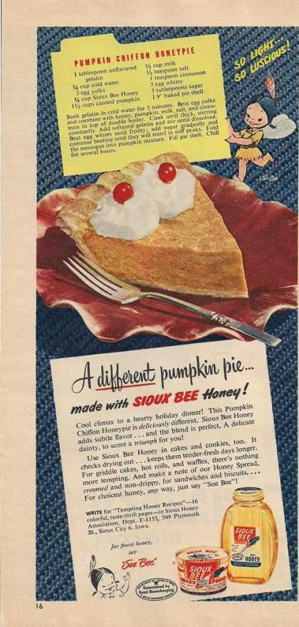 Sioux Bee Honey and Spread (1953)