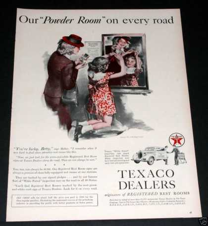 Old , Texaco Dealers, Powder Rooms (1939)