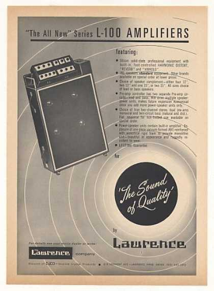 Lawrence L-100 Amplifier Sound of Quality (1968)