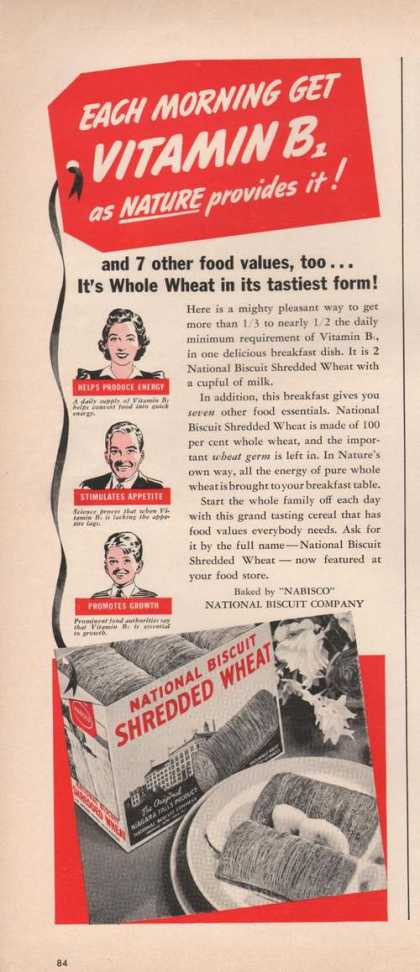 National Biscuit Shredded Wheat Cereal (1941)