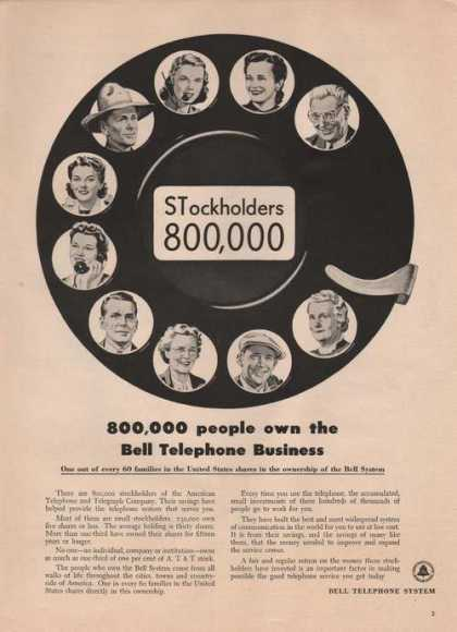 800,000 People Own the Bell Telephone Prin (1949)