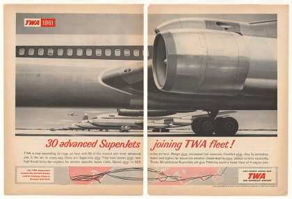 TWA Airlines SuperJet Jet Fleet 2-Page (1961)