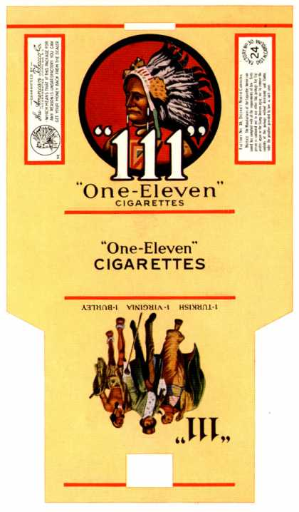 "American Tobacco Co.'s Cigarettes – 111 ""One Eleven"""