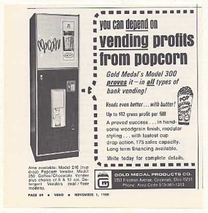 Gold Medal Model 300 Popcorn Vending Machine (1968)