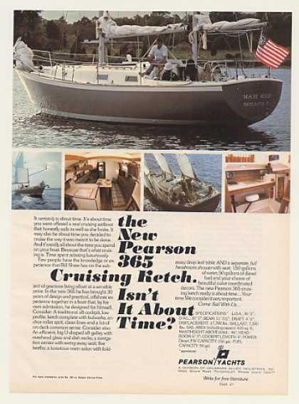 Pearson Yacht 365 Cruising Sailboat Boat Photo (1977)