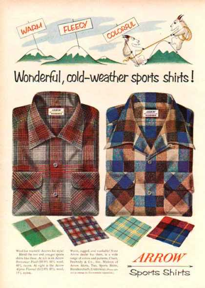 Arrow Sports Shirts – Cold-weather Sports Shirts (1948)
